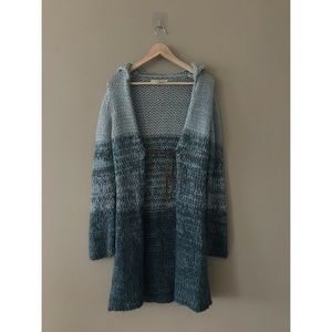 Free People Wool Blend Ombre Duster Knit Cardigan